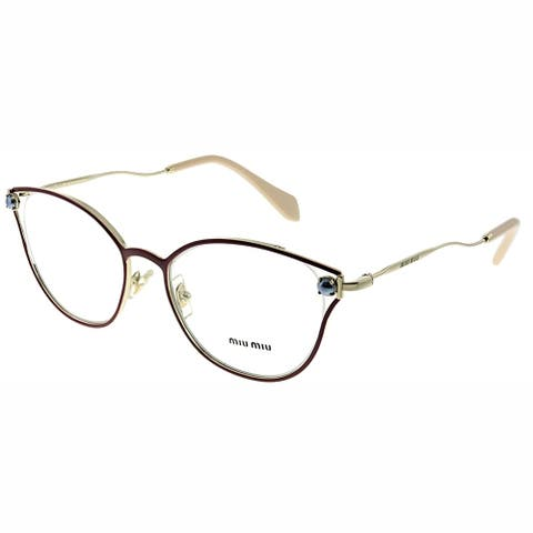 Miu Miu MU 53QV CCG1O1 52mm Womens Garnet Frame Eyeglasses 52mm