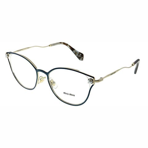 Miu Miu MU 53QV WWK1O1 52mm Womens Blue Frame Eyeglasses 52mm