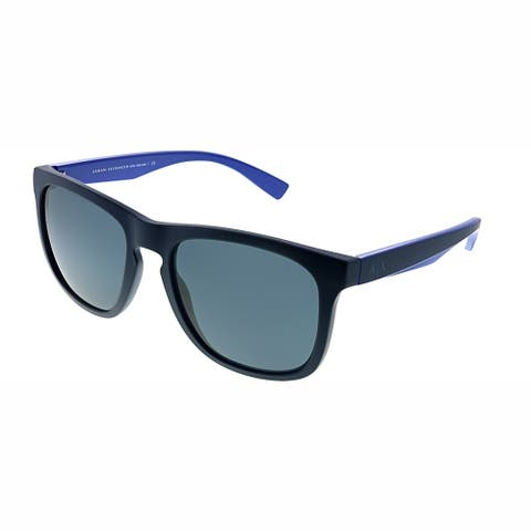 Armani Exchange AX 4058S 819887 Unisex Matte Dark Blue Frame Grey Lens Sunglasses