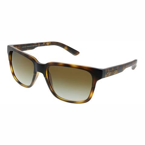 Armani Exchange AX 4026S 8029T5 Unisex Matte Havana Frame Brown Gradient Lens Sunglasses
