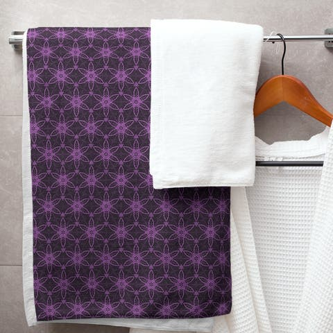 Classic Ornate Circles Bath Towel - 30 x 60