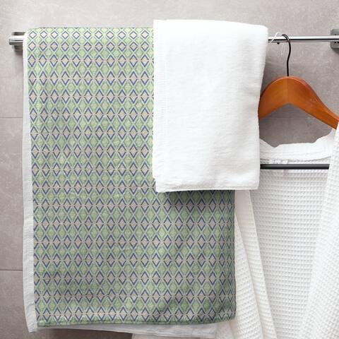 Full Color Arrow Diamonds Bath Towel - 30 x 60