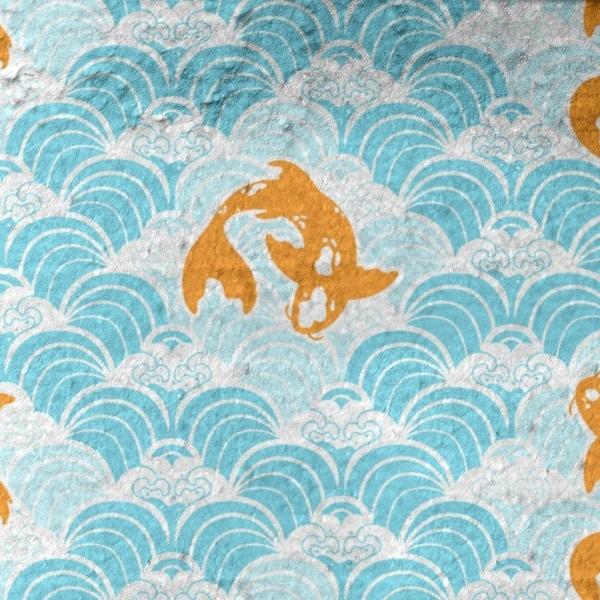 Porch Den Aloma Koi Fish Waves Bath Towel 30 X 60 Overstock 28497913
