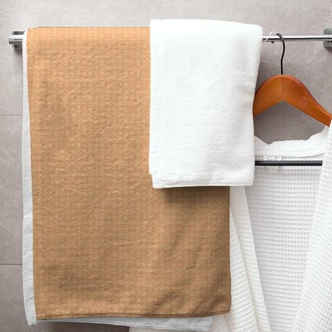 Two Color Doily Pattern Bath Towel - 30 x 60