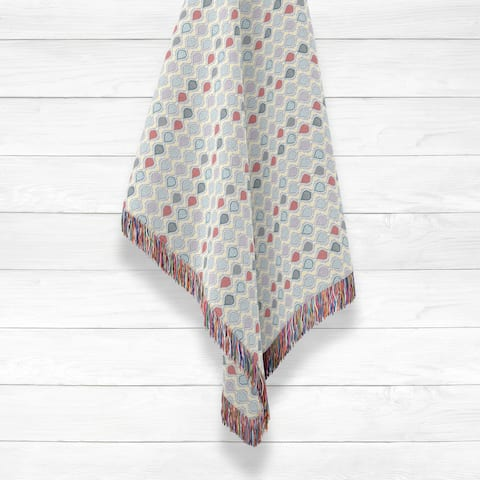 Vine Prism Luxury Cotton Woven Throw by Amrita Sen
