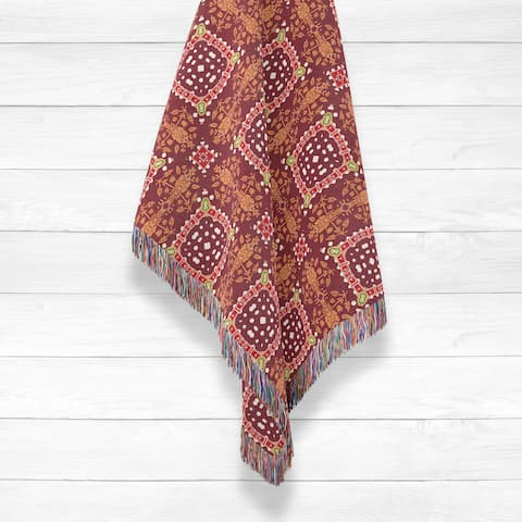 Squares Luxury Cotton Woven Throw by Amrita Sen