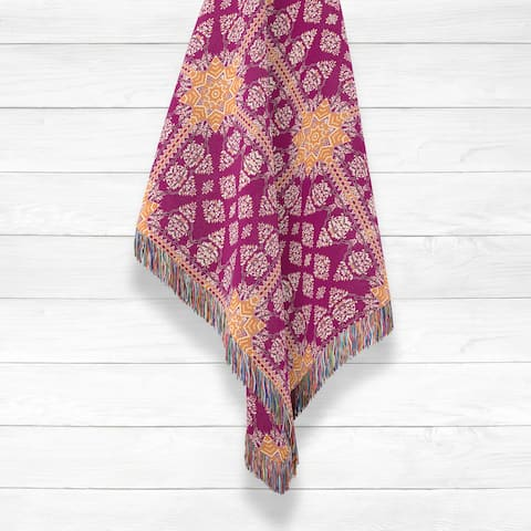 Regal Mughal Luxury Cotton Woven Throw by Amrita Sen