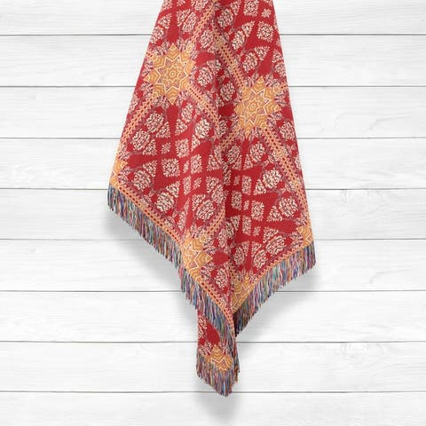 Regal Mughal Luxury Cotton Woven Throw by Amrita Sen