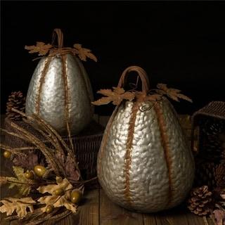 Glitzhome Galvanized Metal Pumpkin