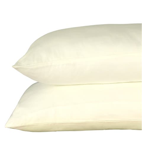400 Thread Count 100% Egyptian Quality Cotton Sateen, Solid Cloud Cream, Pack Of 4 King Pillow Cases