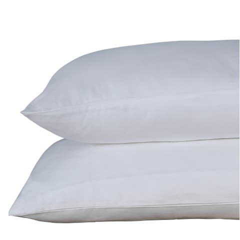 500 Thread Count 100% Egyptian Quality Cotton Sateen, Solid White, Pack of 4 Queen Pillow Cases