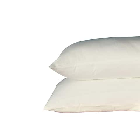 250 Thread Count 100% Cotton Sateen, Solid Linen, Pack Of 4 Queen Pillow Cases