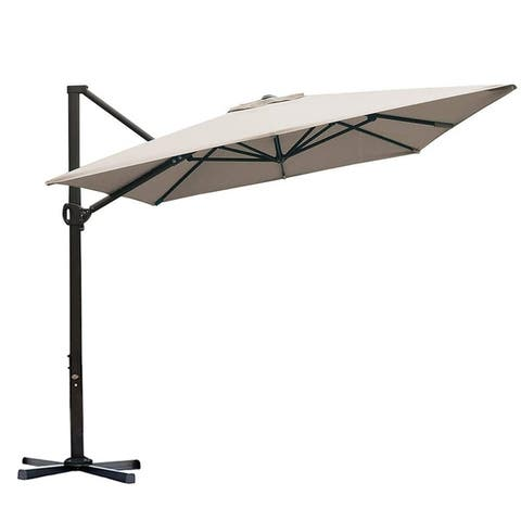 Havenside Home Acapulco 8x10-foot Offset Cantilever Patio Umbrella with Cross Base