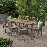 Belasera Outdoor 8 Seater Expandable Acacia Wood Dining Set by Christopher Knight Home