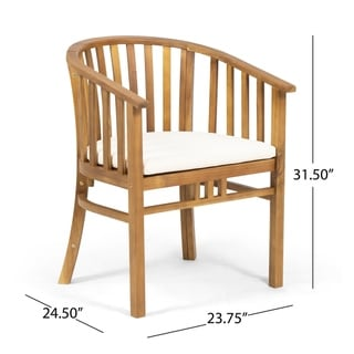 Alondra Outdoor 4 Seater Acacia Wood Circular Dining Set by Christopher Knight Home