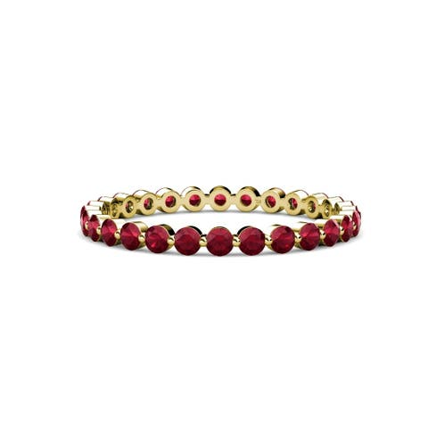 TriJewels Ruby Womens Eternity Band 0.72-0.85 ctw 14KY Gold