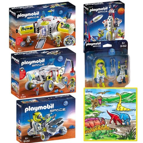 PLAYMOBIL Mars Space Station, Mission Rocket with Launch Site