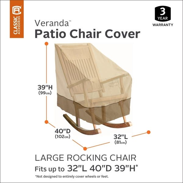 Outstanding Shop Veranda Patio Rocking Chair Cover Large On Sale Lamtechconsult Wood Chair Design Ideas Lamtechconsultcom