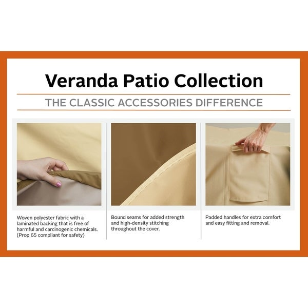 Durable and Water Classic Accessories Veranda Patio Rocking Chair Cover
