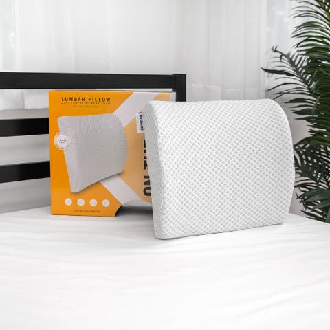 SwissLux Conforming Memory Foam Lumbar Back Support Pillow