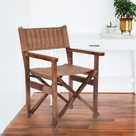Carbon Loft Taymor Leather Director's Chair