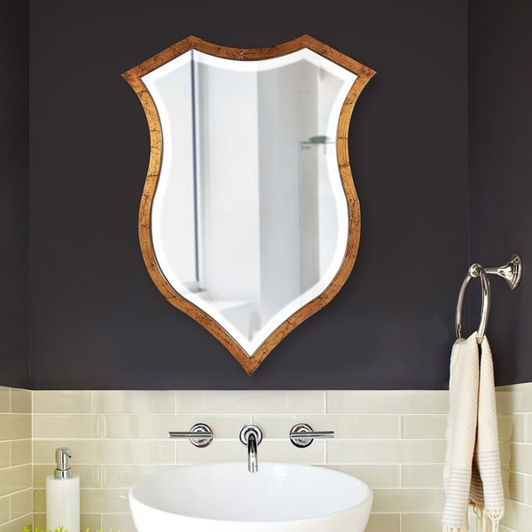 Carson Carrington Tand Crest Antique Gold Mirror