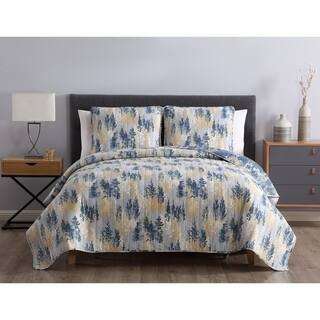 Asher Home Terrance Reversible Abstract Quilt Set