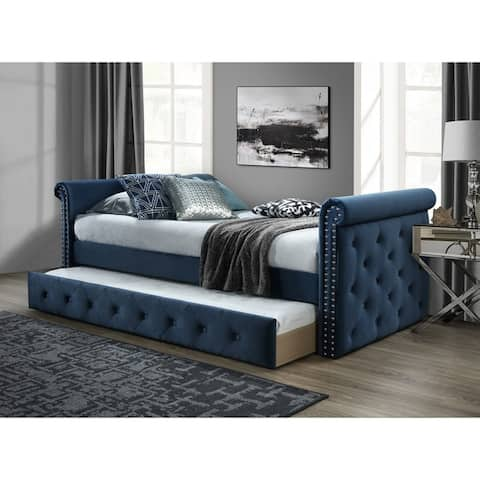 Chester Tufted Twin Daybed with Trundle