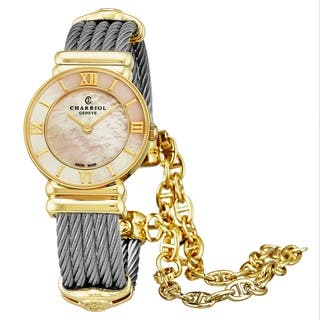 Charriol Women's 028YI.540.555 'St Tropez' Mother of Pearl Dial Two Tone Stainless Steel Quartz Watch