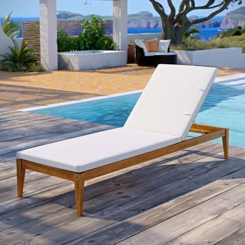 Northlake Outdoor Patio Premium Grade A Teak Wood Chaise Lounge