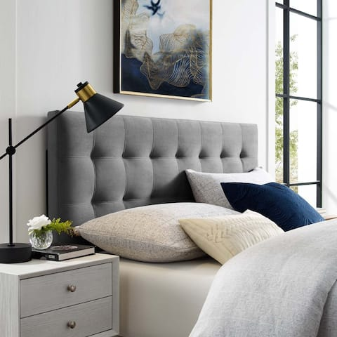 Emily Twin Biscuit Tufted Performance Velvet Headboard