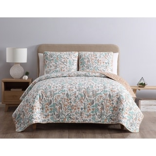 Link to Porch & Den Groveshire Reversible Floral Quilt Set Similar Items in Quilts & Coverlets