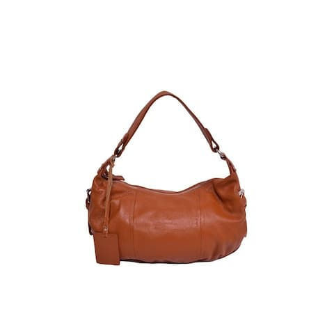Alexis Leather Hobo - Brown