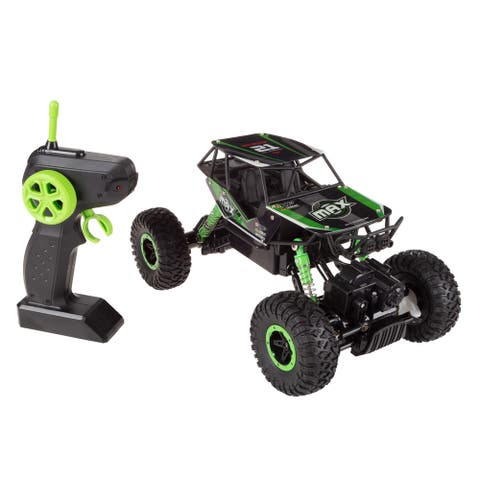 Remote Control Monster Truck 1/16 Scale 2.4 GHz RC Off-Road Toy by Hey! Play! - 10.25 x 6.25 x 5.75