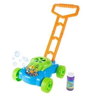 Bubble Lawn Mower Toy Push Lawnmower Bubble Blower Machine by Hey! Play! - 12 x 10.5 x 19