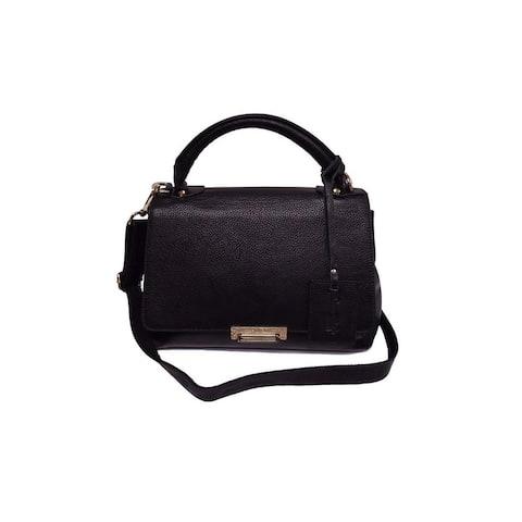 """Donna Bella Designs """"Aspen"""" Leather Tote - Black"""
