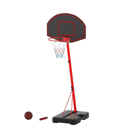 Junior Basketball Hoop Portable Backboard System with Two Rim Heights by Hey! Play! - 26 x 26 x 75