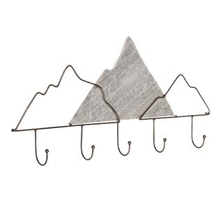 Coat Hook Wall Hanging Mountain Galvanized Metal - N/A