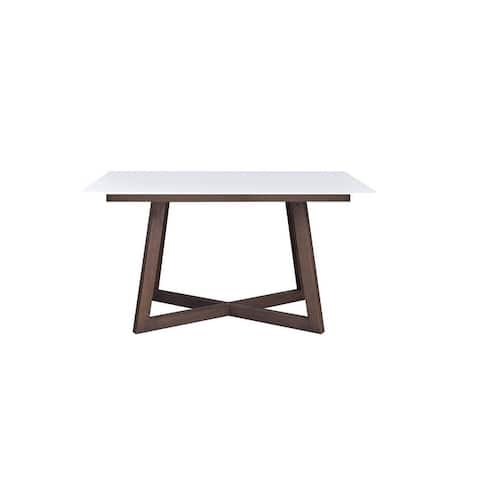 PARIS Glass Top Extendable Dining table - N/A