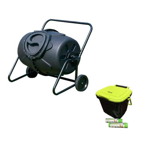 Overstock Exclusive (composter, kitchen caddie and 2 rolls of corn bags)