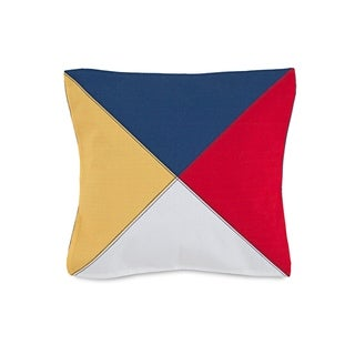 "The Southern Tide Windward 18"" Square Tri-Color Printed Decorative Pillow"