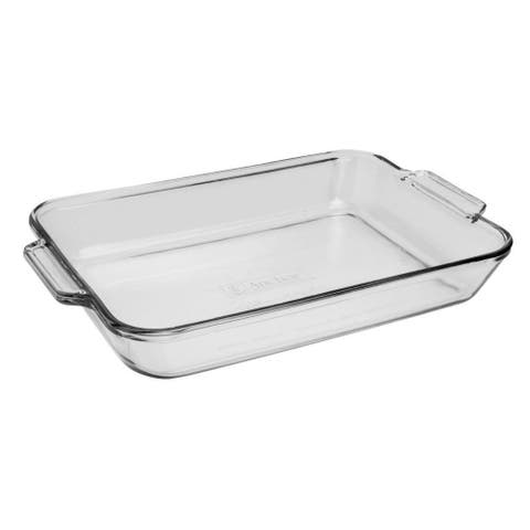 5QT Large Heavy Duty Glass Oven Baking Deep Dish-Made In USA-Dishwasher Microwave Freezer Safe