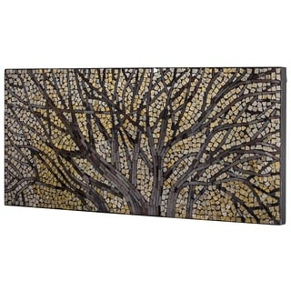 Crushed Glass Mosaic Wall Art - Tree Branches - N/A
