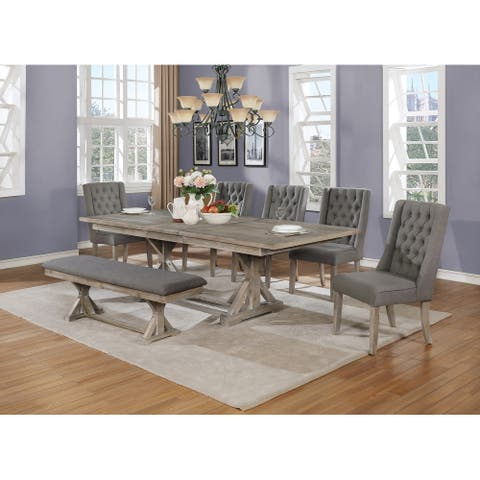 Best Quality Furniture 7-Piece Dining Set