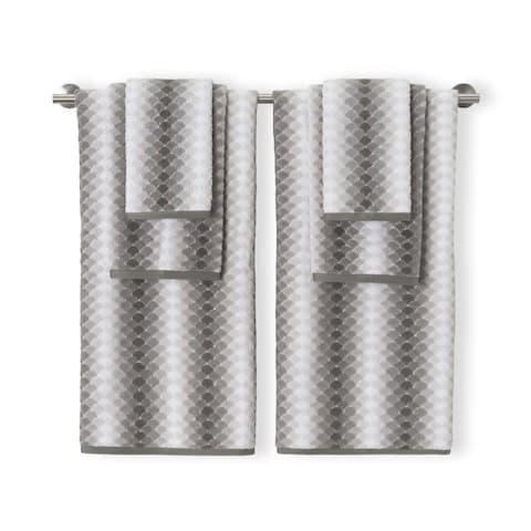 Salina Grey 6pc Set Towel Set