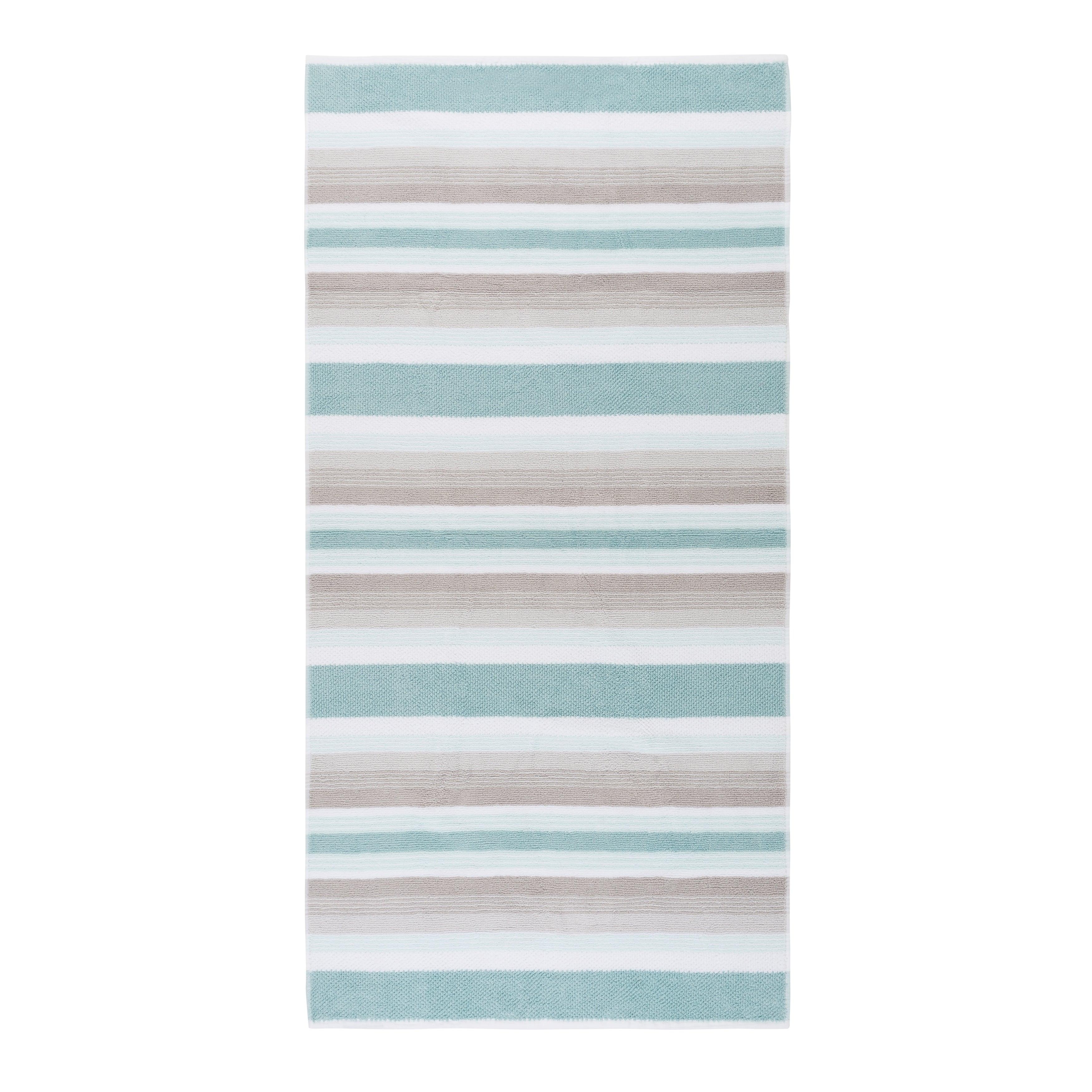 Better At The Beach Hand Towel Set 2 Pc Set Azure blue//white Coastal Home 2-pc