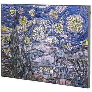 Vincent Van Gogh's Starry Night Glass Mosaic - N/A