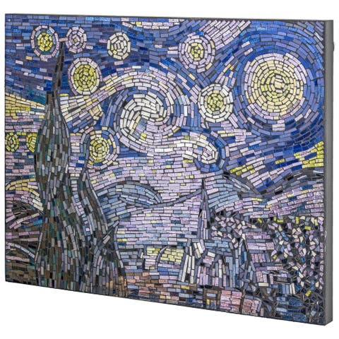 Vincent Van Gogh's Starry Night Glass Mosaic