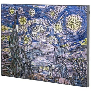 Link to Vincent Van Gogh's Starry Night Glass Mosaic Similar Items in Decorative Accessories