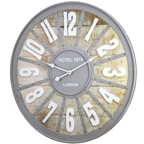 Hotel 1870 London Metal Oversized Wall Clock